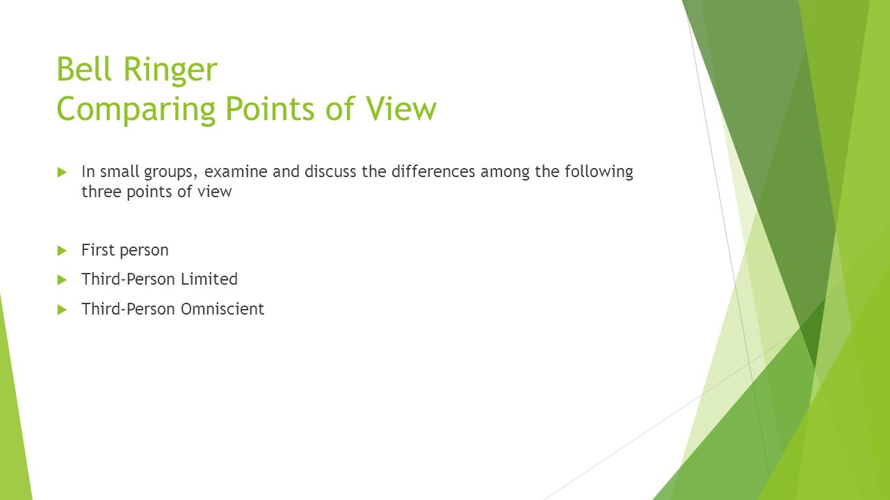 worksheet First And Third Person Point Of View Worksheets lesson experimenting with point of view ppt video online download bell ringer comparing points view