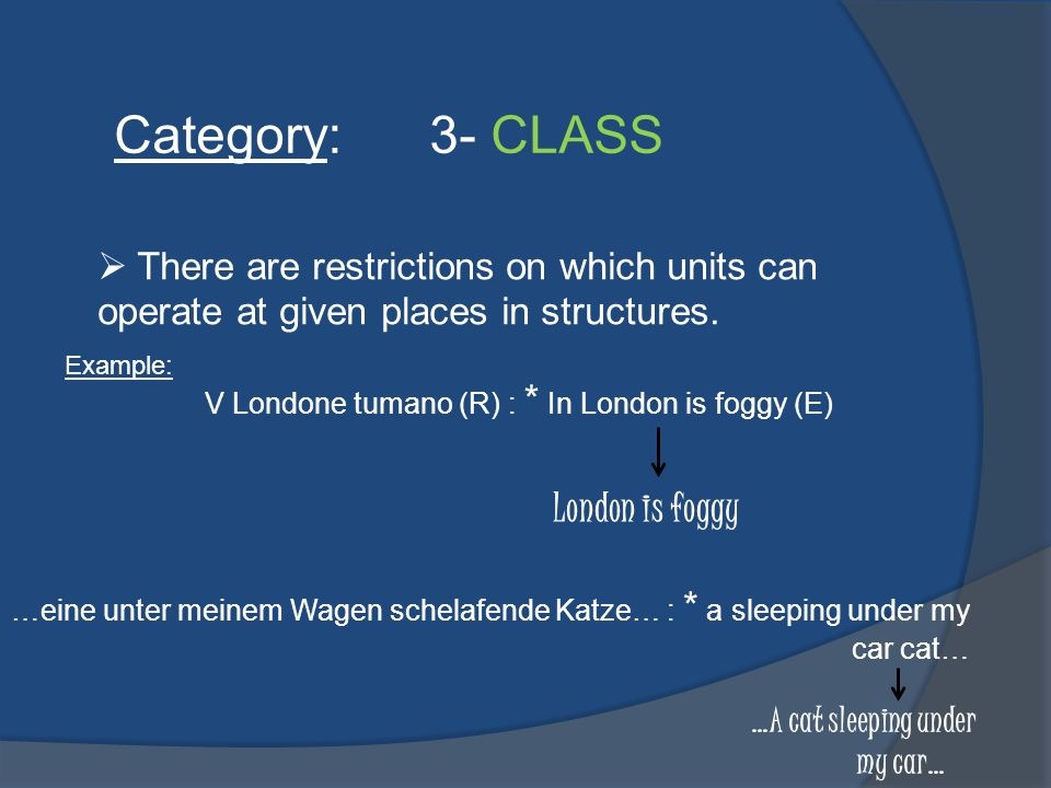 Category: 3- CLASS London is foggy