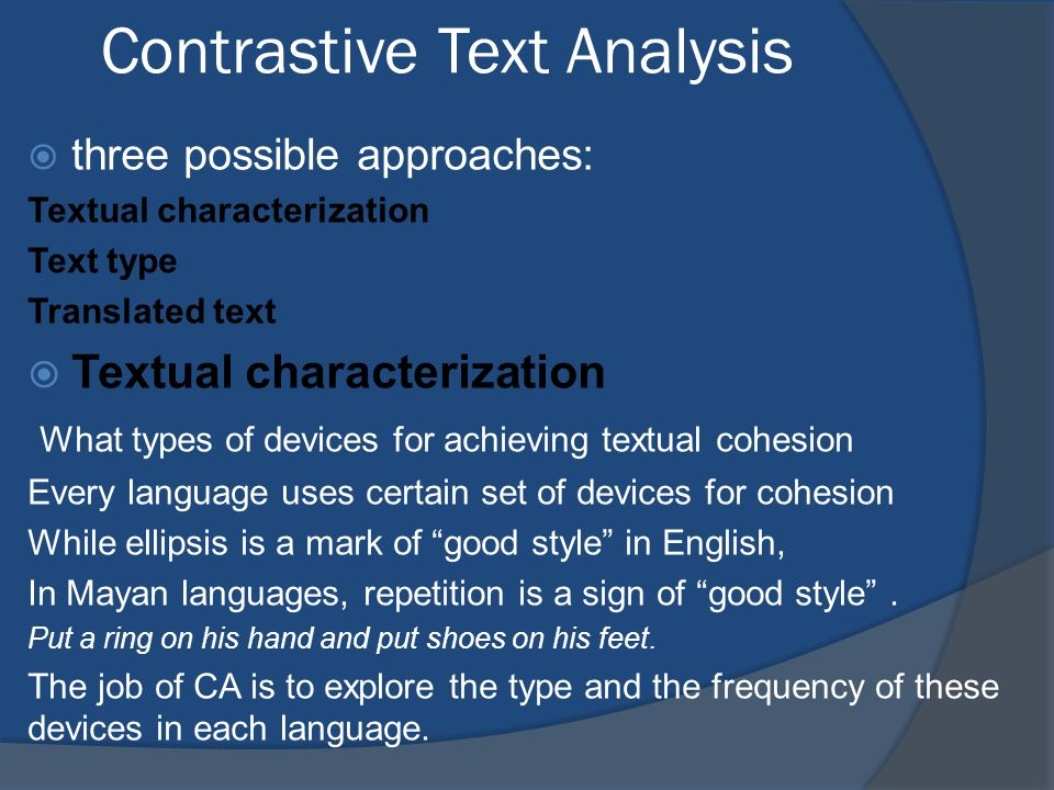 Contrastive Text Analysis