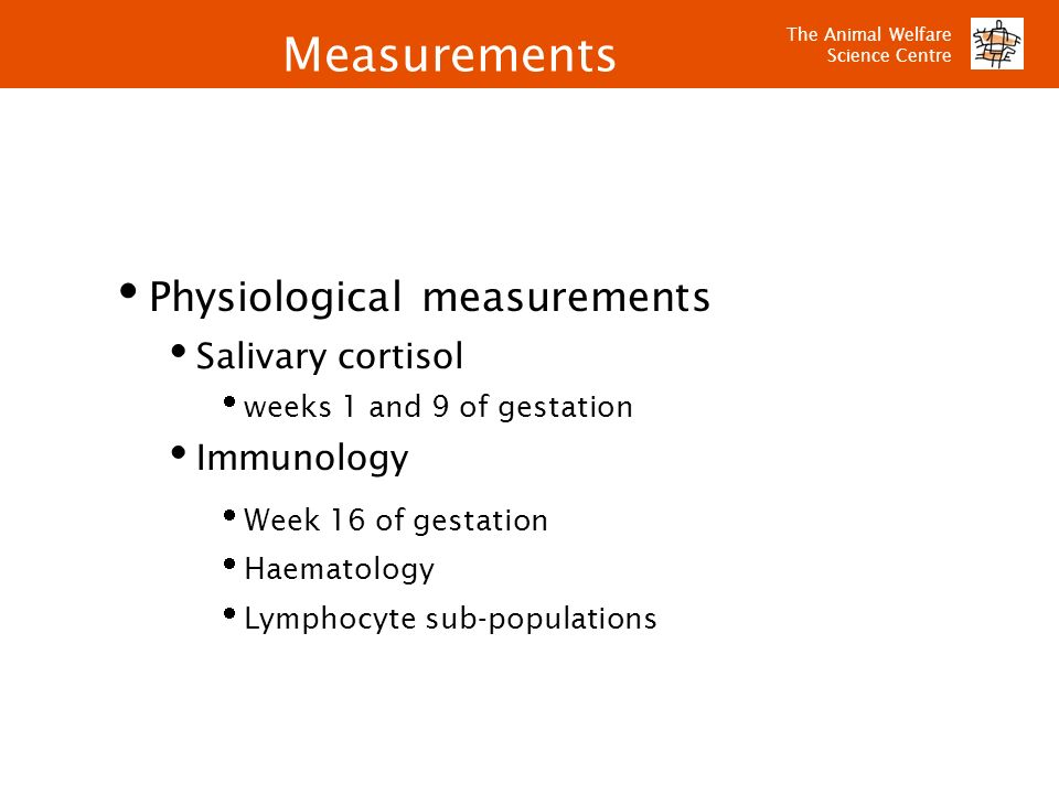 Measurements Physiological measurements Salivary cortisol Immunology