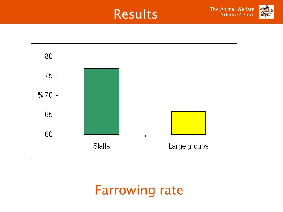 Results Farrowing rate