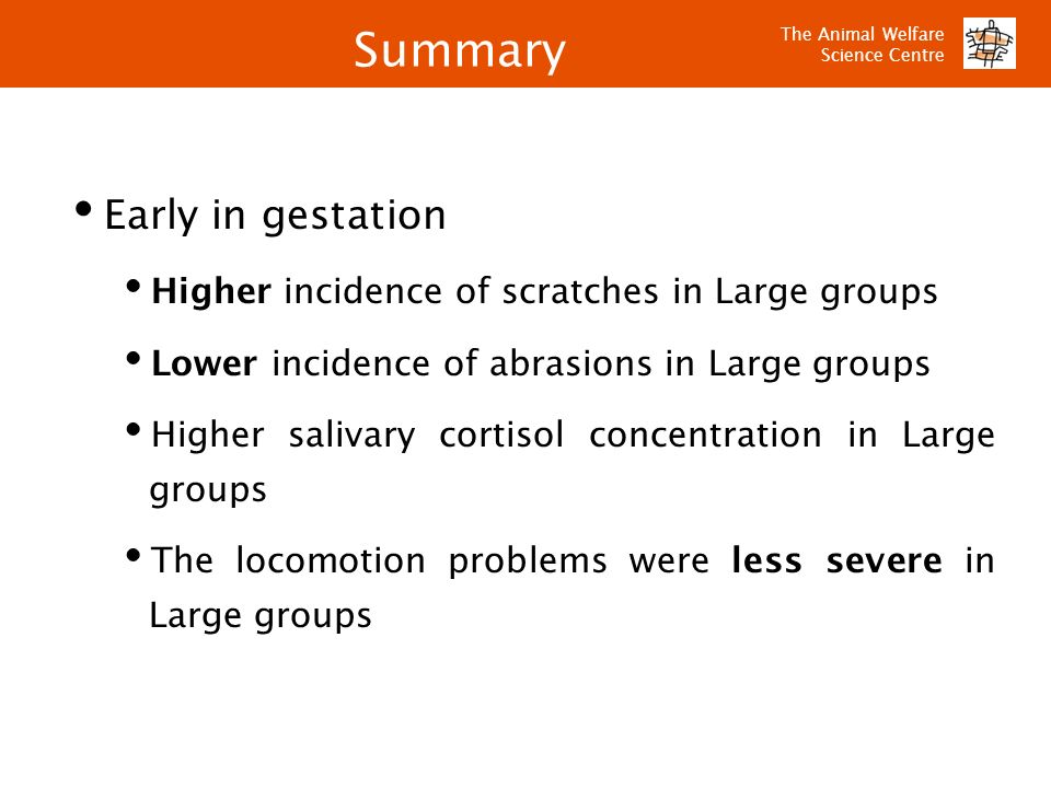 Summary Early in gestation