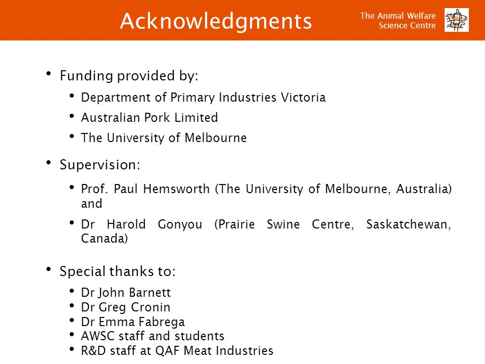 Acknowledgments Funding provided by: Supervision: Special thanks to: