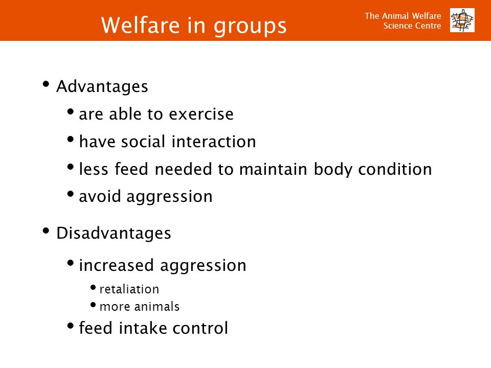 Welfare in groups Advantages are able to exercise