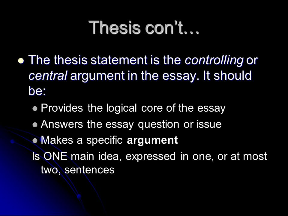 evaluation essay thesis statement