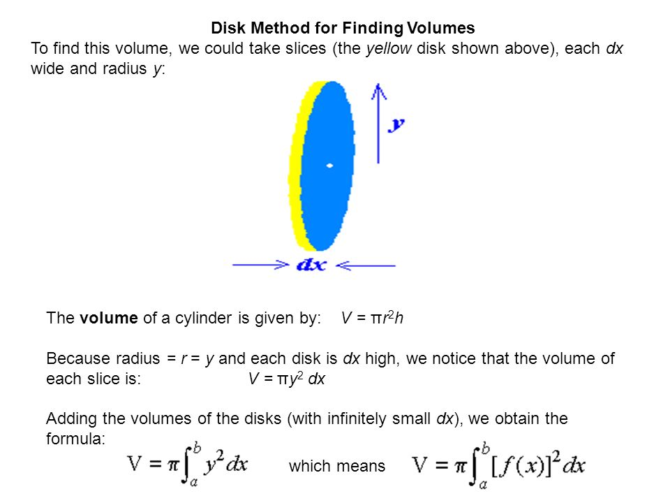 Volumes of solids of revolution ppt video online download 3 disk method for finding volumes ccuart Gallery