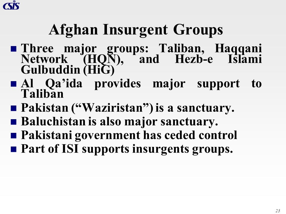 Afghan Insurgent Groups