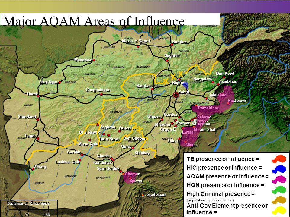 Major AQAM Areas of Influence