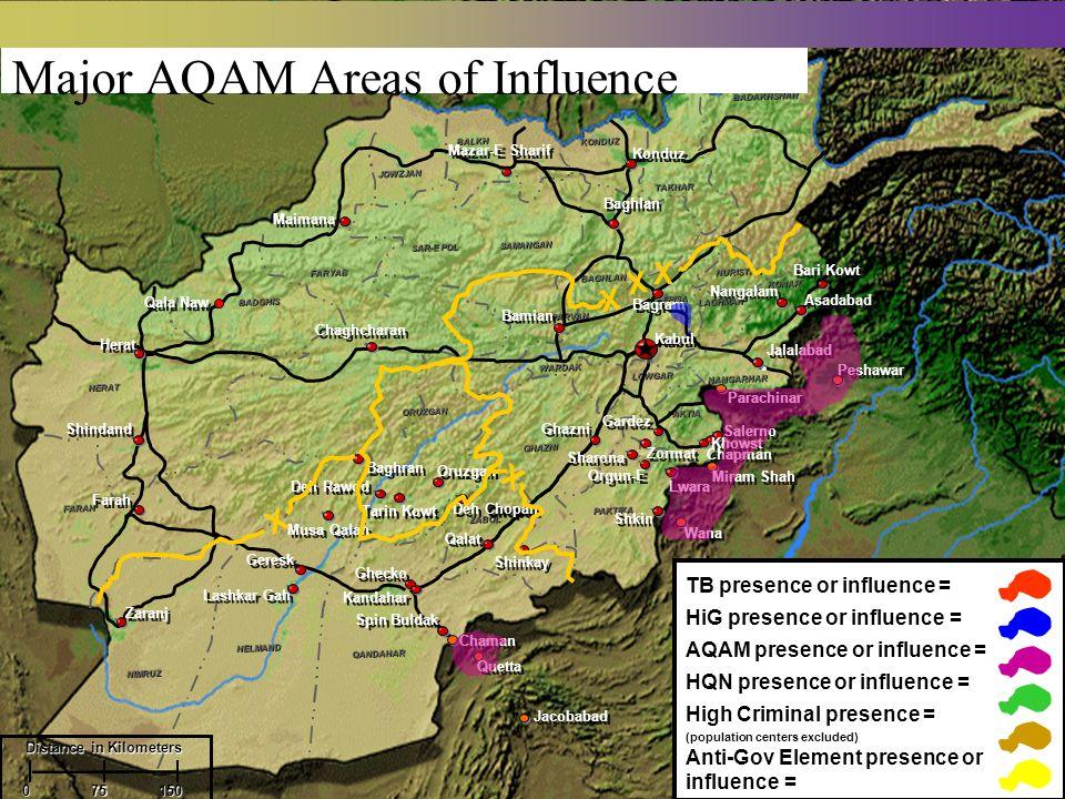 Major AQAM Areas of Influence