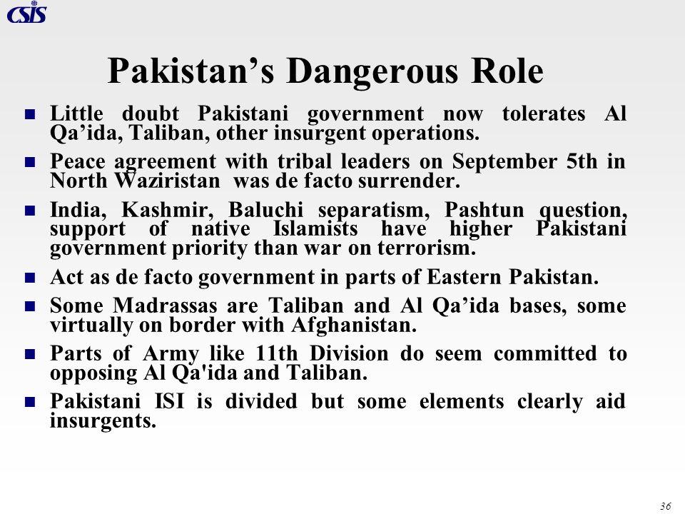 Pakistan's Dangerous Role