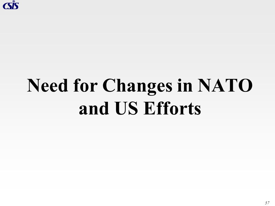 Need for Changes in NATO and US Efforts