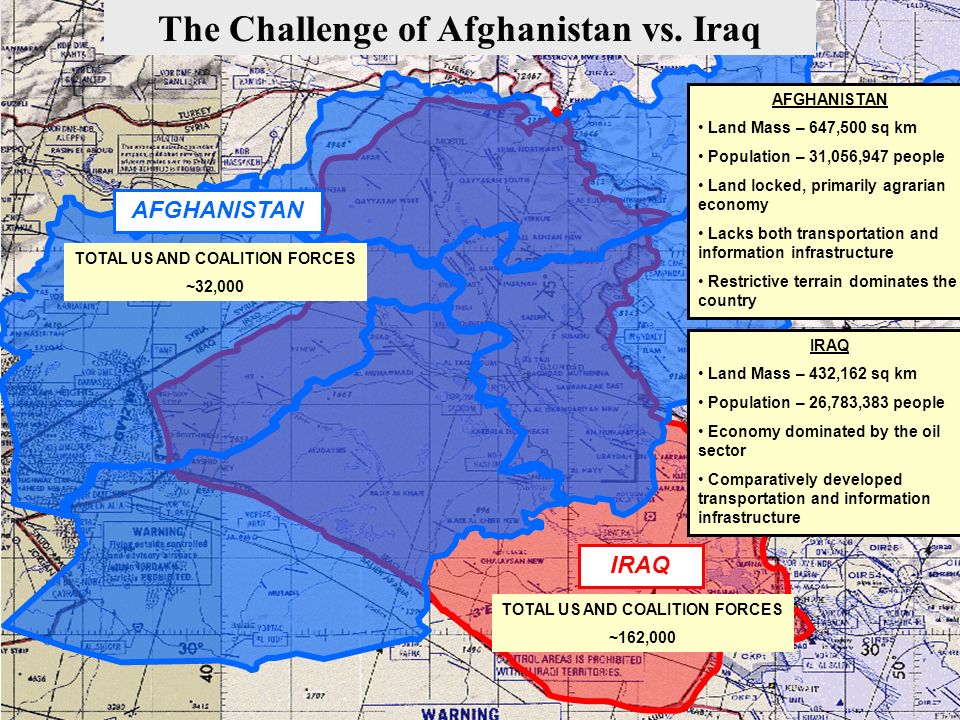 The Challenge of Afghanistan vs. Iraq