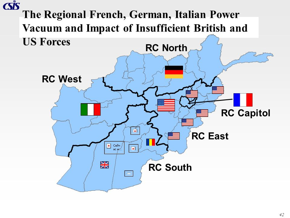 The Regional French, German, Italian Power Vacuum and Impact of Insufficient British and US Forces