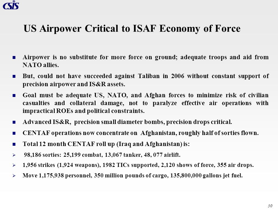 US Airpower Critical to ISAF Economy of Force