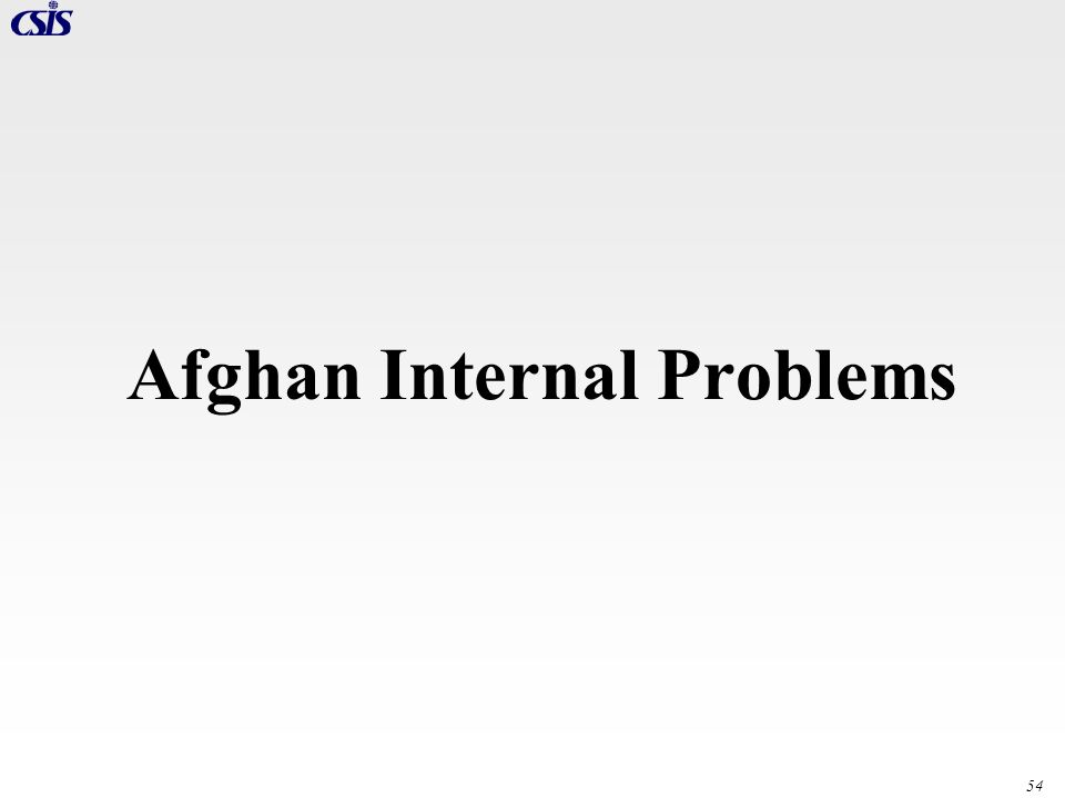Afghan Internal Problems