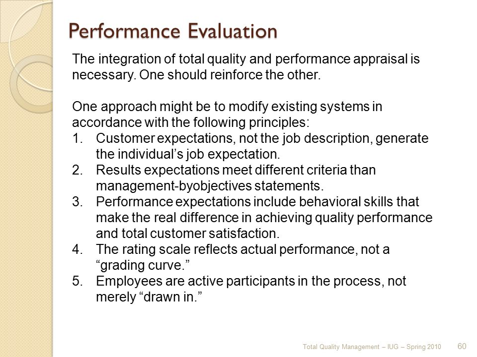 behavior descriptions should meet which of the following criteria To create a performance evaluation system in your practice, follow these five  steps:  performance evaluations for those in management positions should  assess  if you have current job descriptions for each position in your practice,  you've  to describe attitude, for instance instead, describe the employee's  behavior,.
