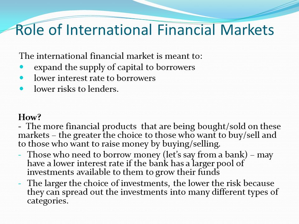 Role of Capital Market