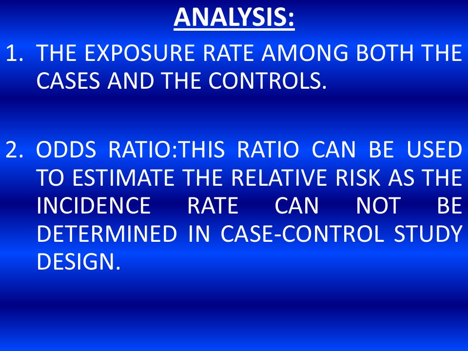 Overview of Case-Control Design - SPH | Boston University