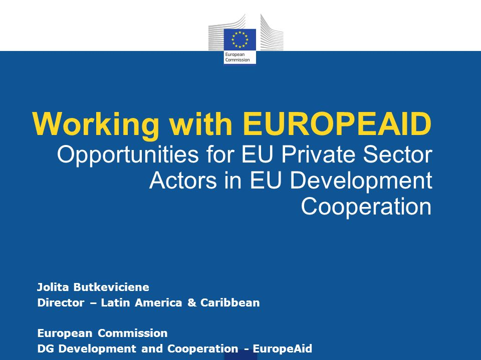 Working with EUROPEAID