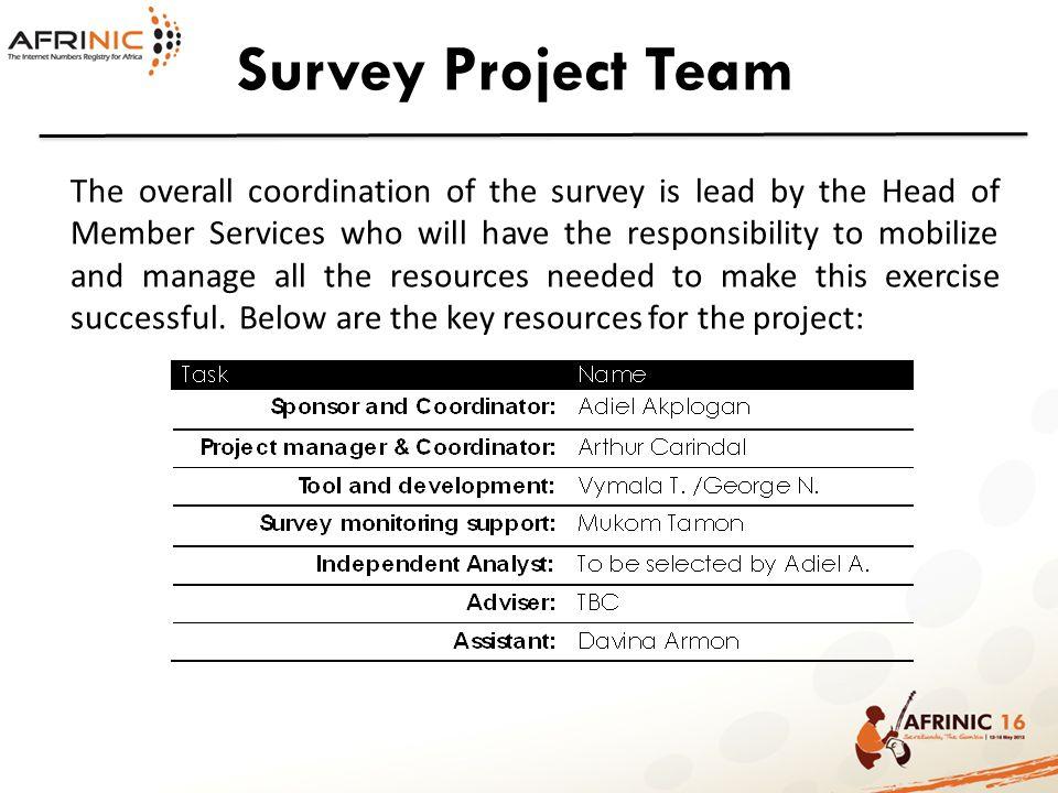 Survey Project Team