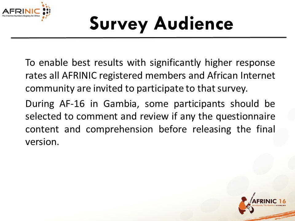 Survey Audience