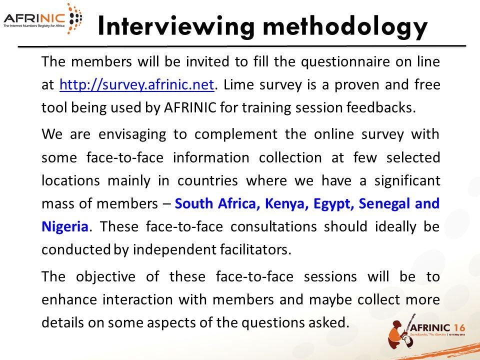 Interviewing methodology