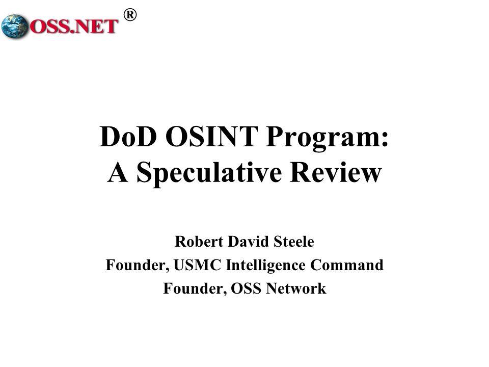 DoD OSINT Program: A Speculative Review