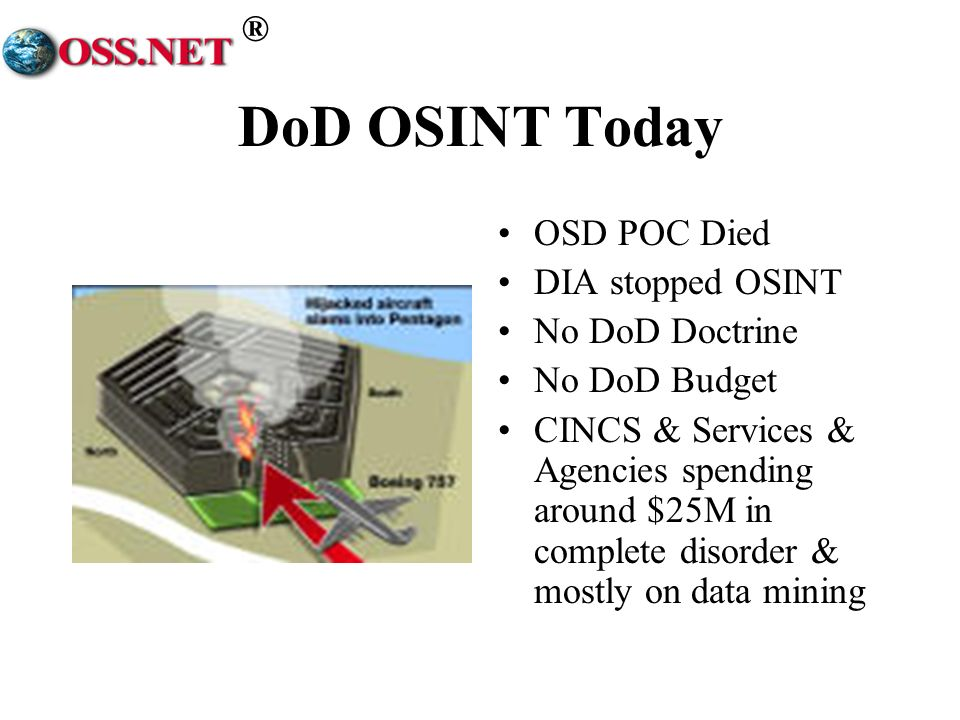 DoD OSINT Today OSD POC Died DIA stopped OSINT No DoD Doctrine