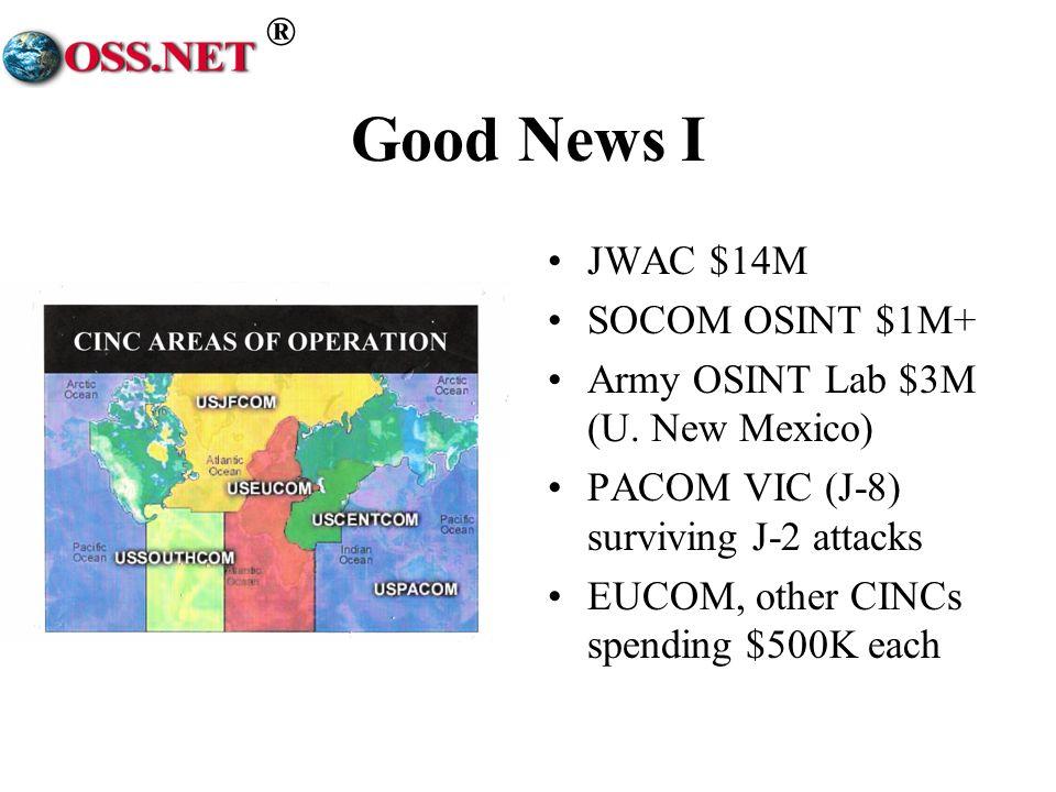 Good News I JWAC $14M SOCOM OSINT $1M+
