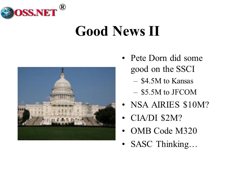 Good News II Pete Dorn did some good on the SSCI NSA AIRIES $10M