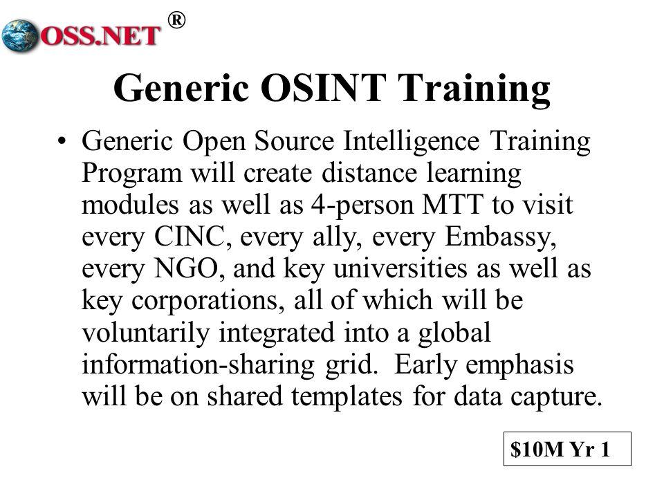 Generic OSINT Training