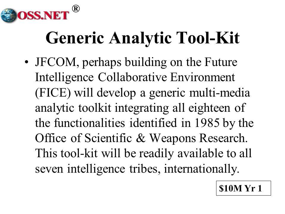 Generic Analytic Tool-Kit