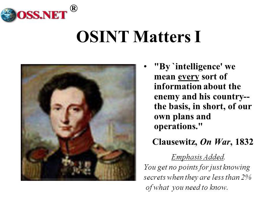 OSINT Matters I