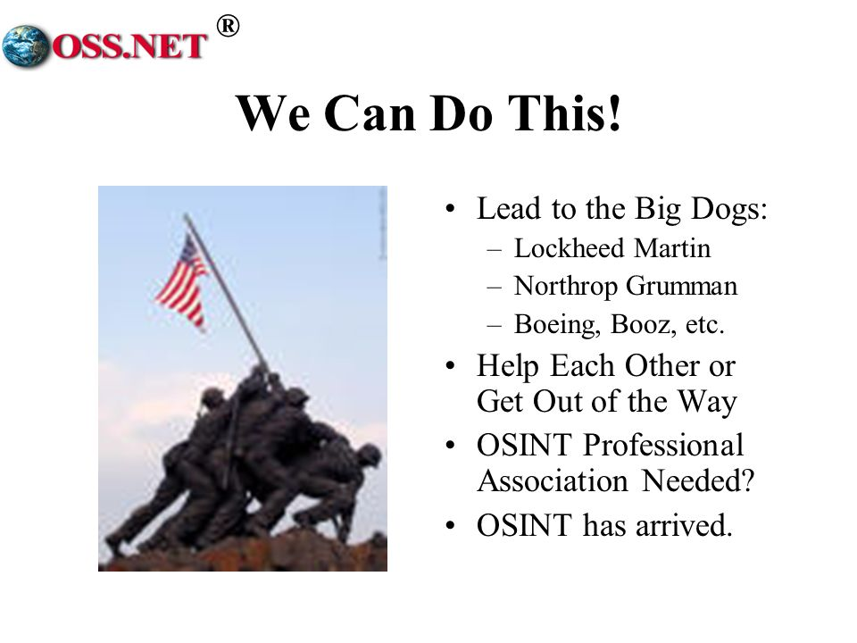 We Can Do This! Lead to the Big Dogs: