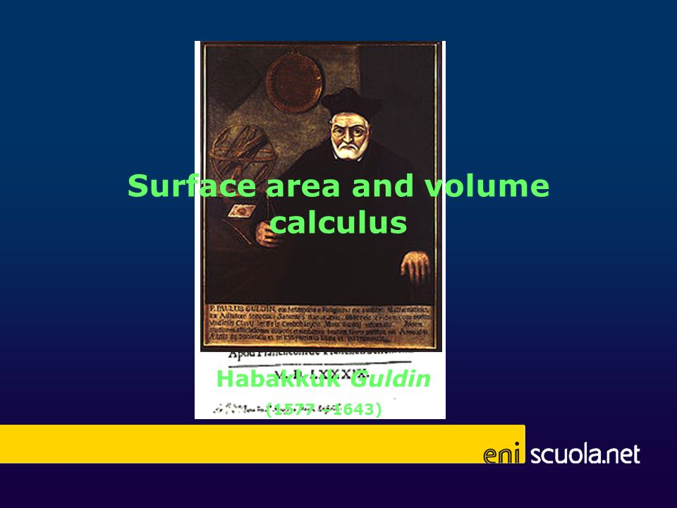 Surface area and volume calculus