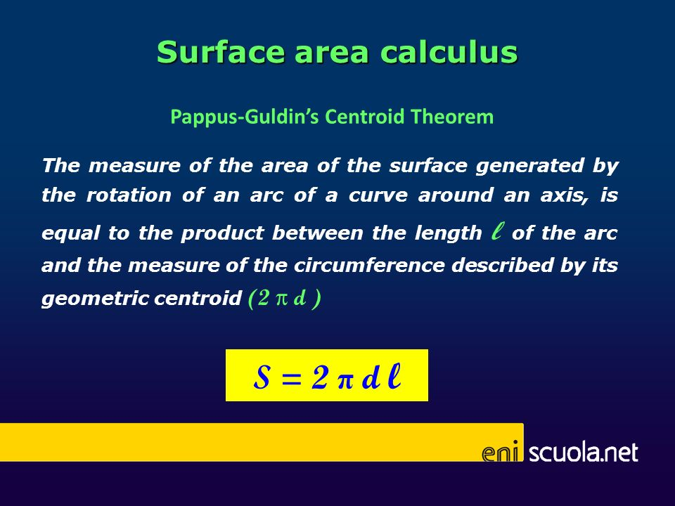 Pappus-Guldin's Centroid Theorem