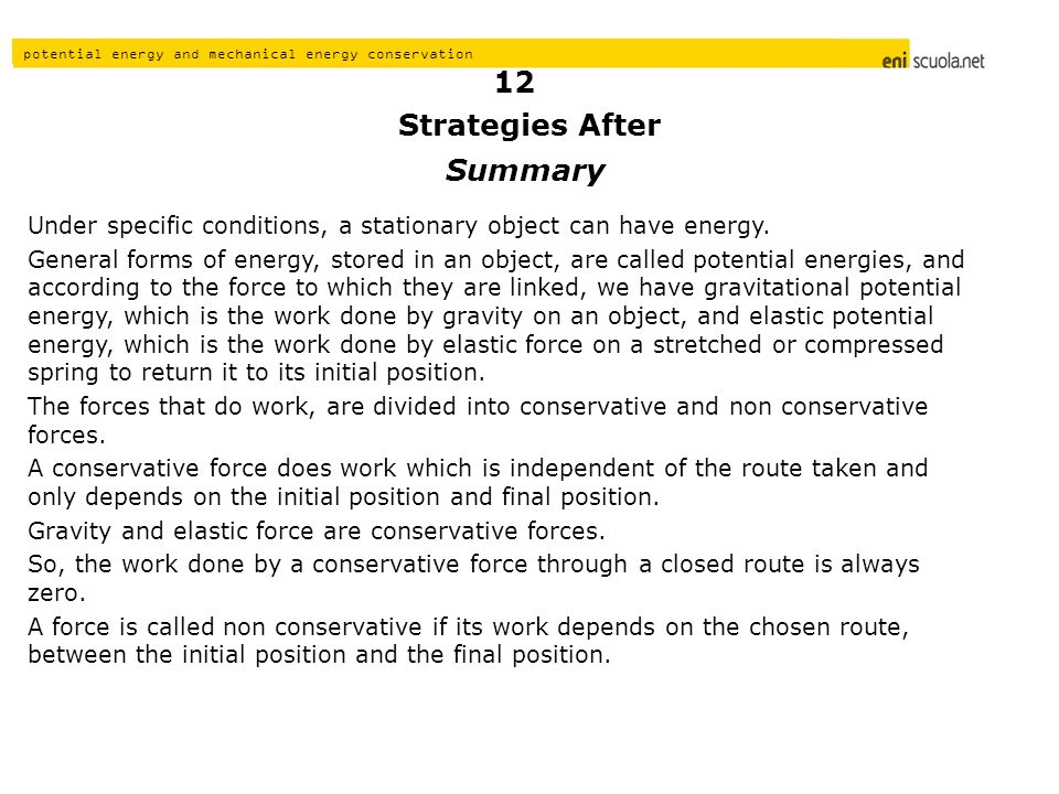 Strategies After 12 Summary