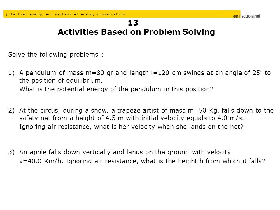 Activities Based on Problem Solving
