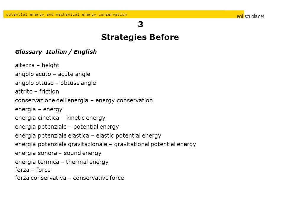 Strategies Before 3 Glossary Italian / English altezza – height