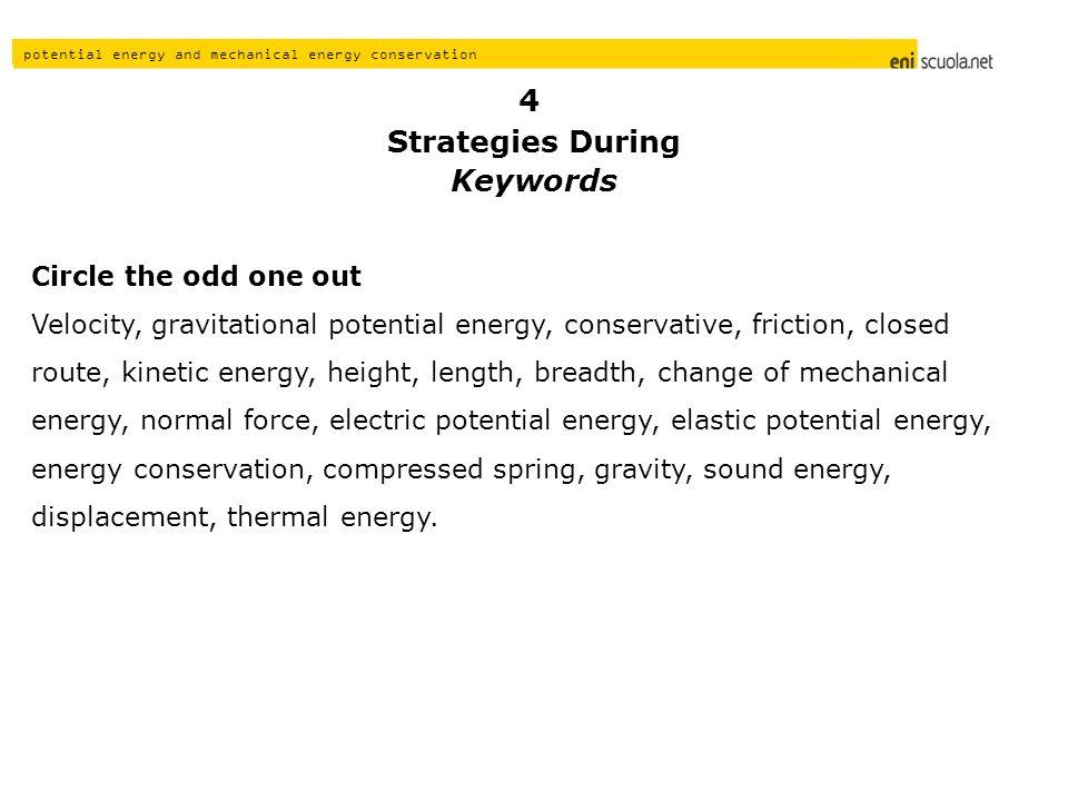 Strategies During Keywords