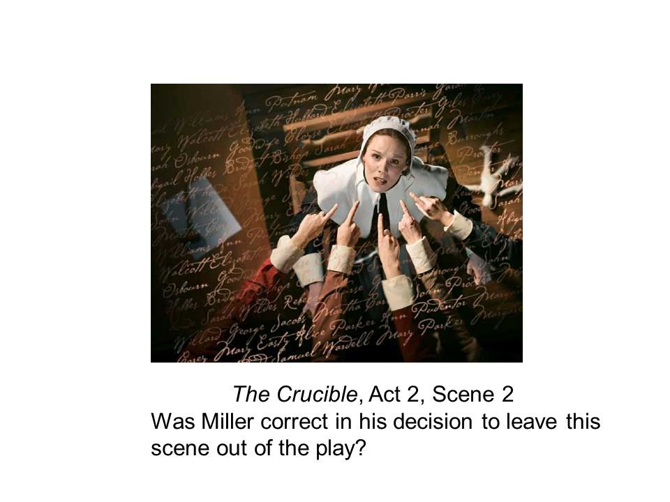 thesis statement for the crucible act 2 The crucible argumentative essay select two characters from the crucible and develop an argument for how hook, narrow, thesis) remember, your thesis statement is.