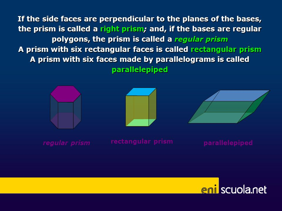 A prism with six rectangular faces is called rectangular prism