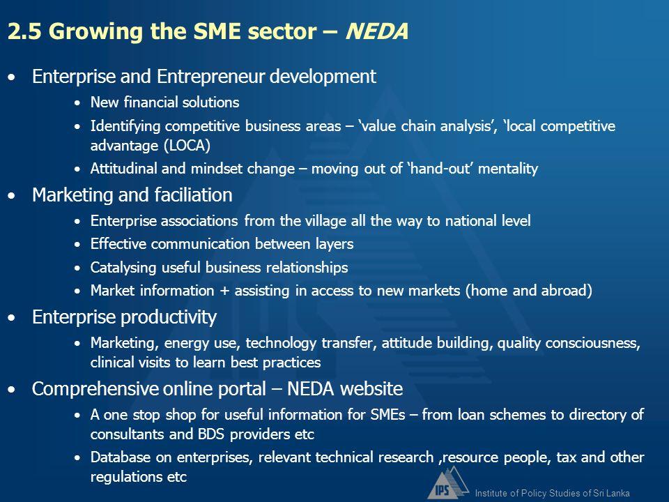2.5 Growing the SME sector – NEDA