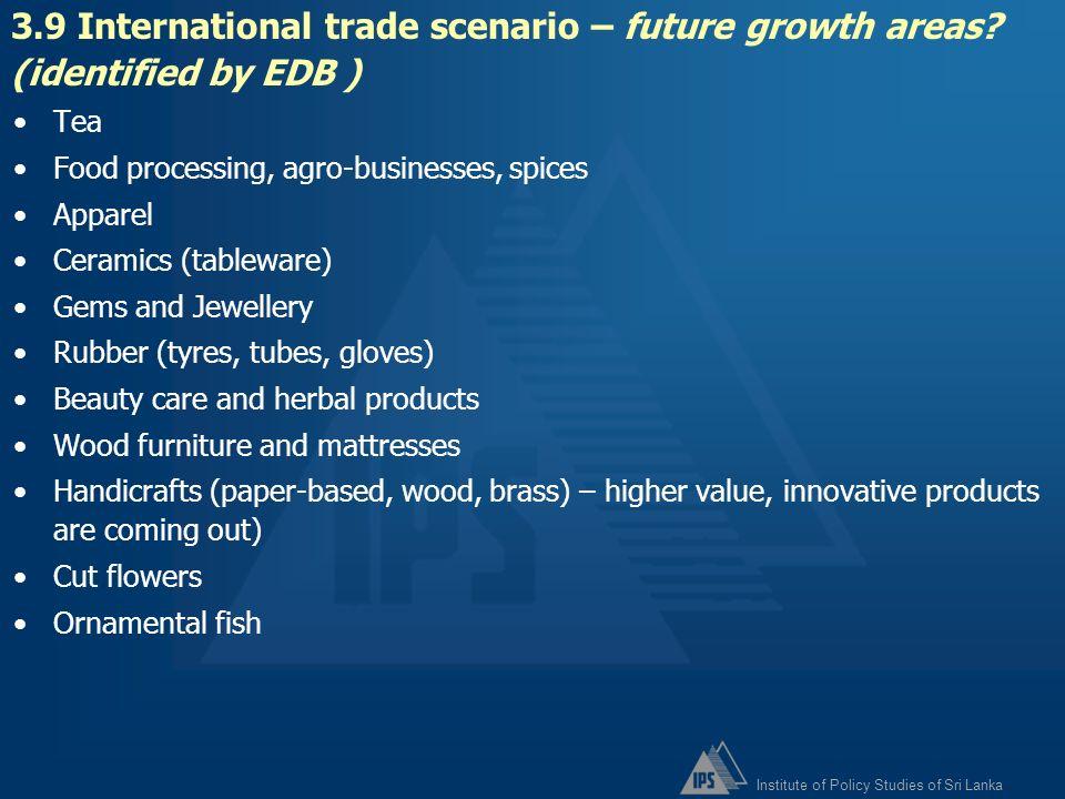 3. 9 International trade scenario – future growth areas