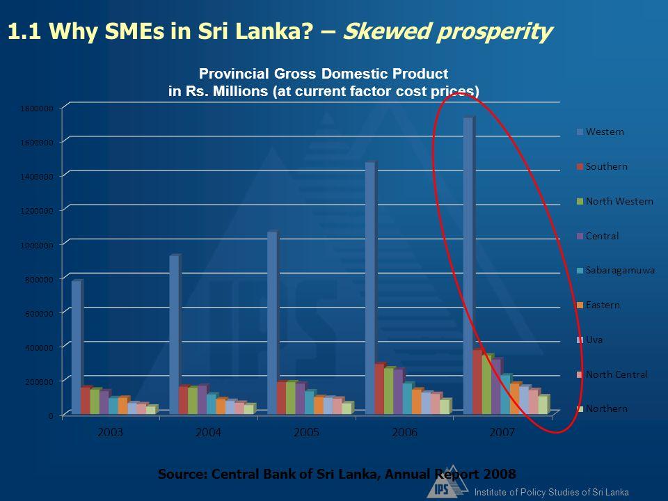 1.1 Why SMEs in Sri Lanka – Skewed prosperity