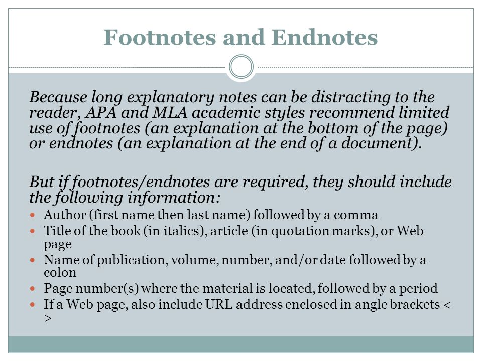 how to use footnotes mla style