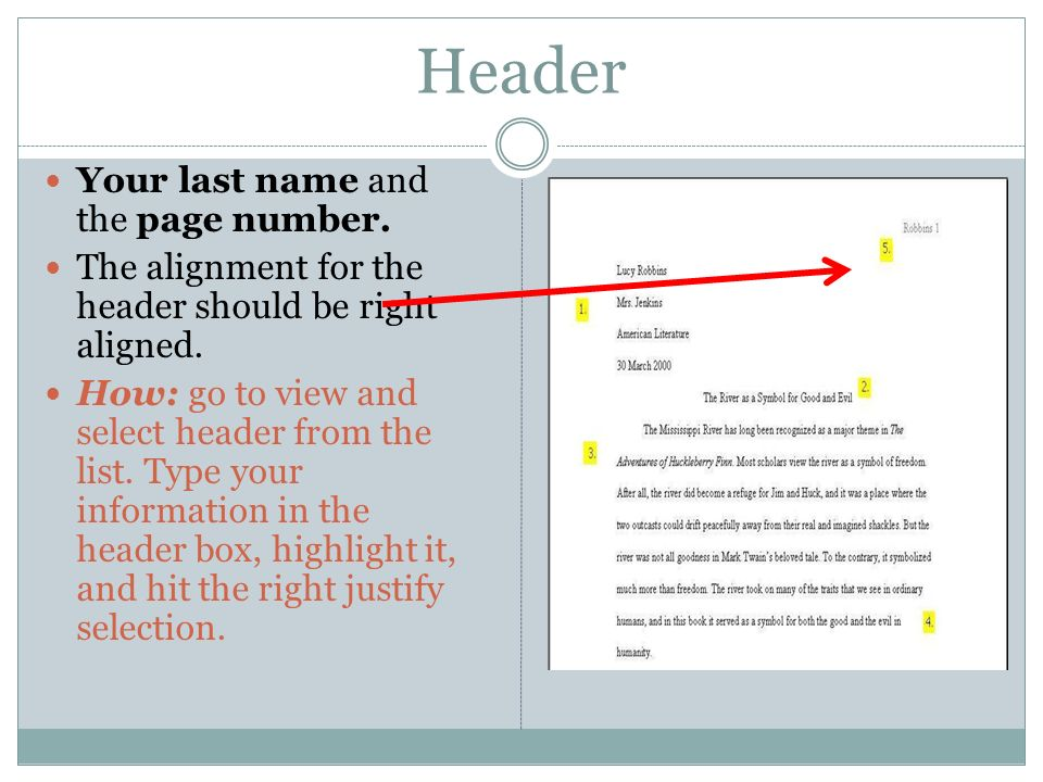 how to add header and page nu mber in header