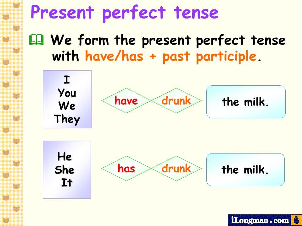 present perfect tense examples pdf