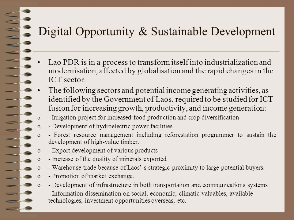 Digital Opportunity & Sustainable Development