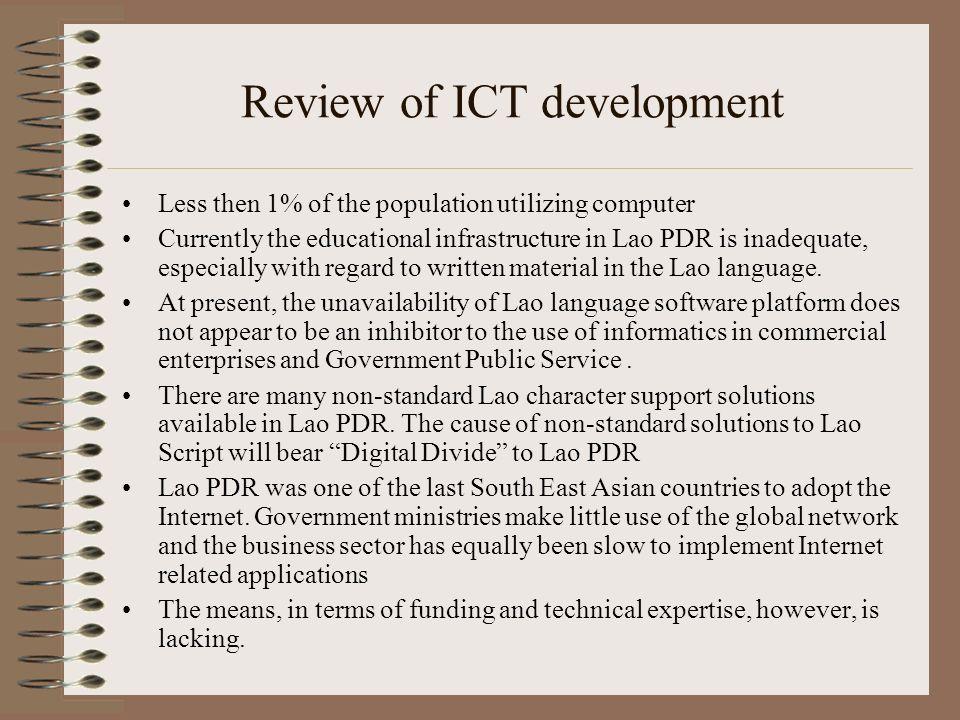 Review of ICT development